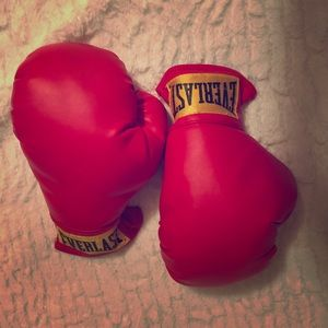 Classic Red Everlast Boxing Gloves